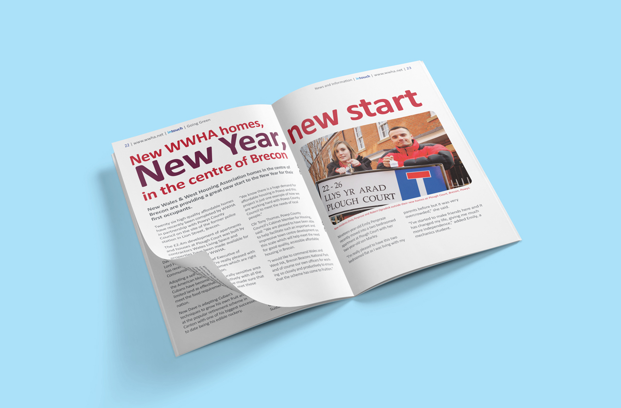 Wales and West Housing InTouch magazine internal shot2