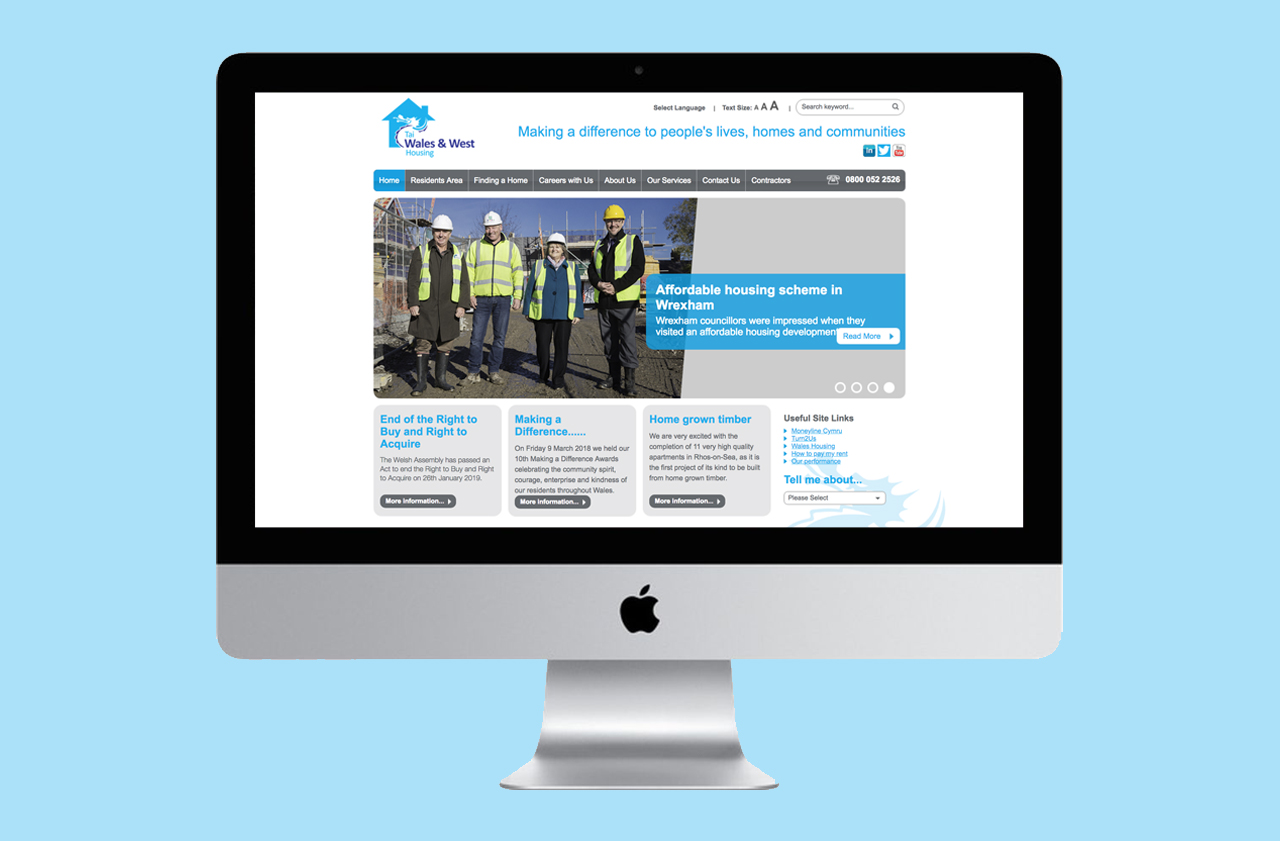 Wales and West Housing website