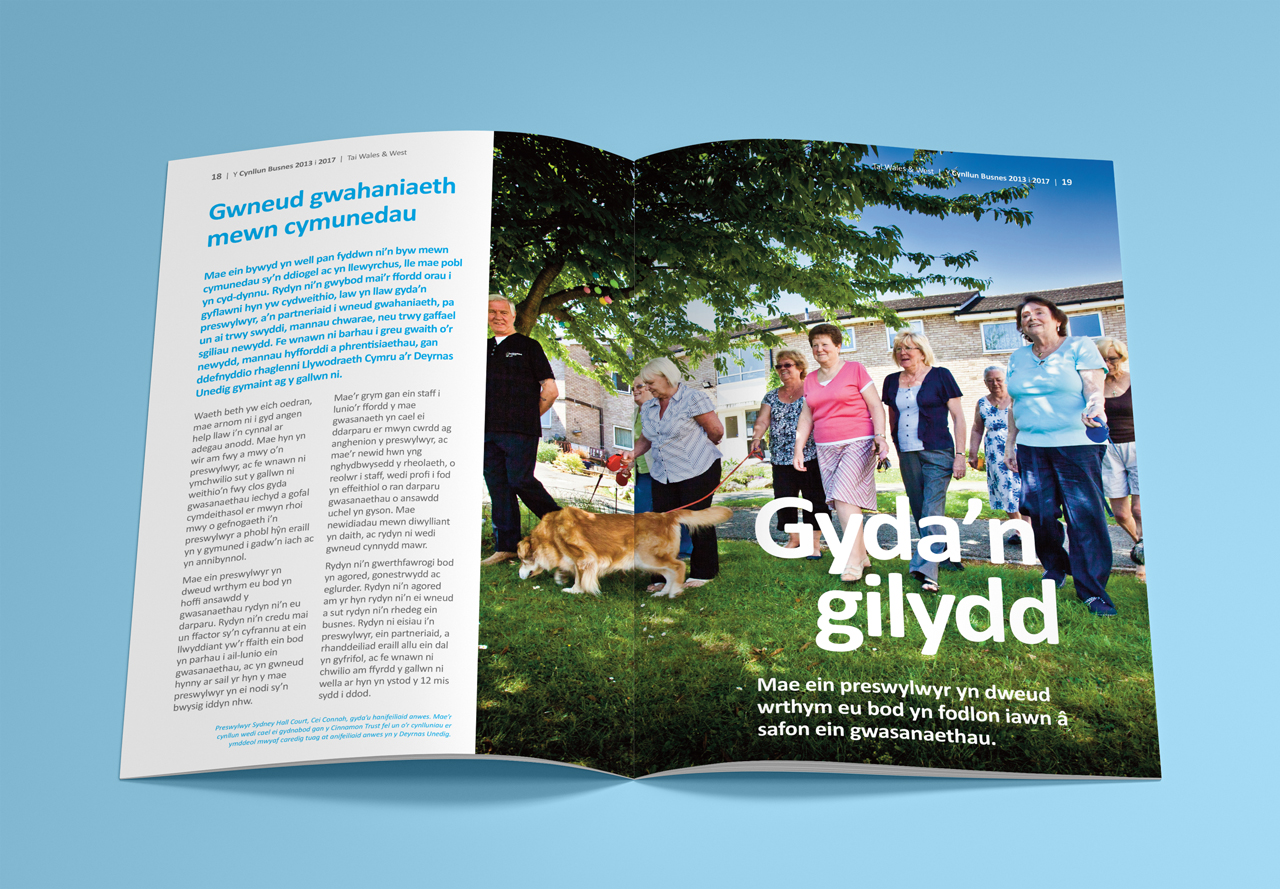 Wales and West Housing InTouch magazine internal shot1