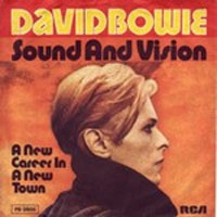 David Bowie, sound and Vision, album cover, glam rock