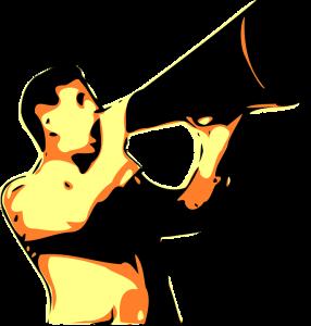 man with megaphone illustration